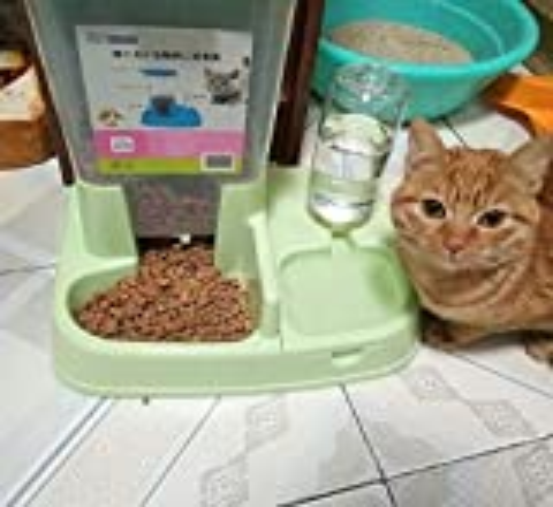 scrox 2in 1automatische Futterautomat für Hunde und Katzen Praktische multifunktionale Lebensmittel und Katzenbrunnen combinationl 1, grün, 1 - 7