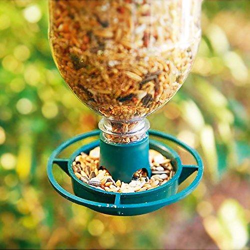 Parkland 2Stück Flasche Top Vogelfutterstation Kit–Recycle Drink Flaschen in Wild Futterspender für Vögel, 2er-Packung