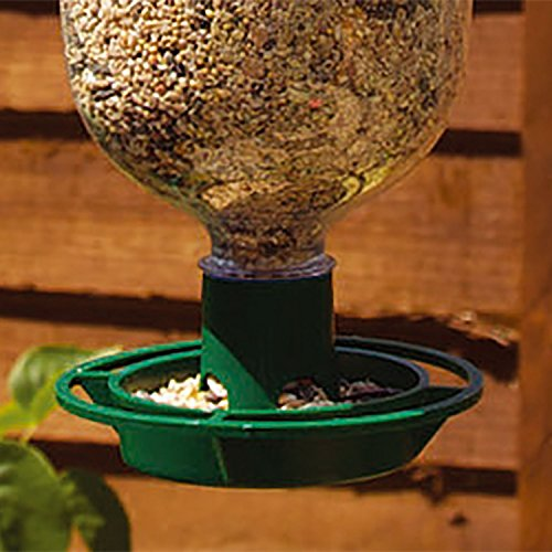 Parkland 2Stück Flasche Top Vogelfutterstation Kit–Recycle Drink Flaschen in Wild Futterspender für Vögel, 2er-Packung - 2
