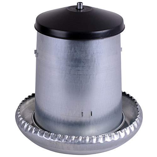 Futtertrog / Futterautomat 5 kg Metall für Geflügel