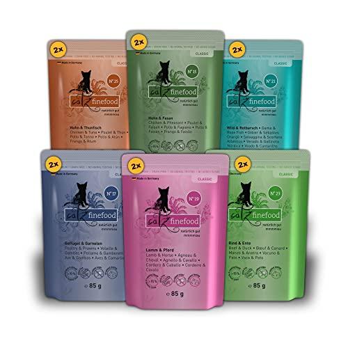 Catz finefood Katzenfutter Multipack Pouches 2 12 x 85g, 1er Pack (1 x 1.02 kg)