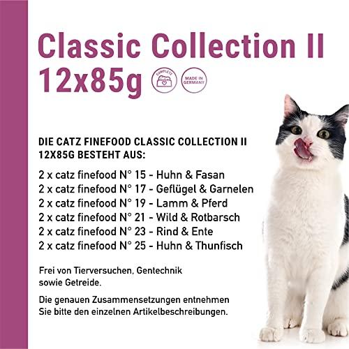 Catz finefood Katzenfutter Multipack Pouches 2 12 x 85g, 1er Pack (1 x 1.02 kg) - 5