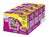Whiskas Junior Katzenfutter Geflügelauswahl in Gelee, 48 Beutel (4 x 12 x 100 g)