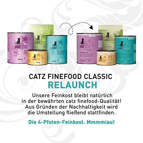 Catz finefood Katzenfutter Multipack II 6 x 400 g (No.15-No.25), 1er Pack (1 x 2.4 kg) - 2