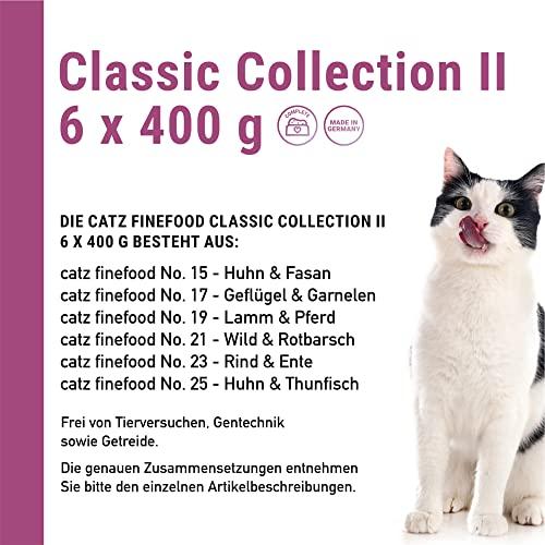 Catz finefood Katzenfutter Multipack II 6 x 400 g (No.15-No.25), 1er Pack (1 x 2.4 kg) - 3