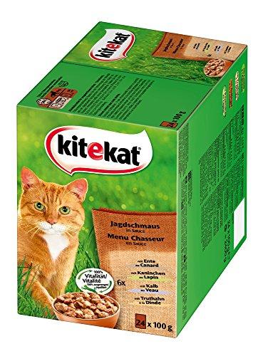 Kitekat Katzenfutter Jagdschmaus in Soße, 48 Beutel (2 x 24 x 100 g) - 2
