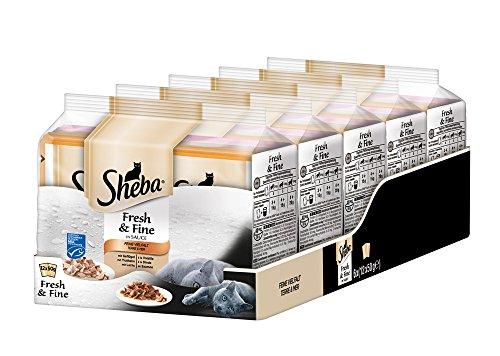 Sheba Fresh & Fine Katzenfutter Feine Vielfalt, 72 Beutel (72 x 50 g)