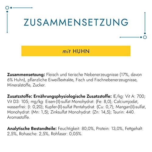 Gourmet Perle Katzenfutter Erlesene Streifen mit Huhn, 24er Pack (24 x 85 g) Beutel - 3