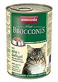 Animonda Brocconis 83378 Wild+Geflügel 12 x 400 g Dose - Katzenfutter