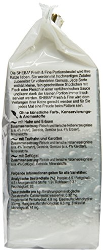Sheba Fresh & Fine Katzenfutter Geflügel Variation mit Gemüse, 72 Beutel (6 x 12 x 50 g) - 4