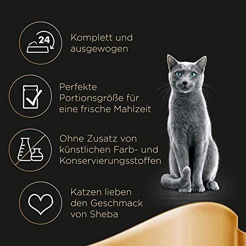 Sheba Fresh & Fine Katzenfutter Herzhafte Komposition, 72 Beutel (72 x 50 g) - 4