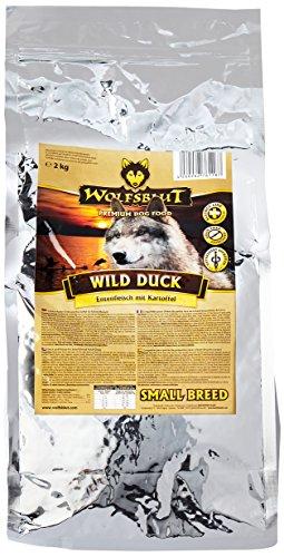 WOLFSBLUT Trockenfutter WILD DUCK SMALL BREED Ente + Kartoffeln für kleine Hunde 2-0 kg