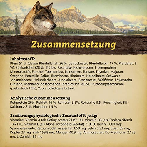 WOLFSBLUT Trockenfutter WIDE PLAIN Pferd + SüßKartoffel Adult für Hunde 15,0 kg - 2