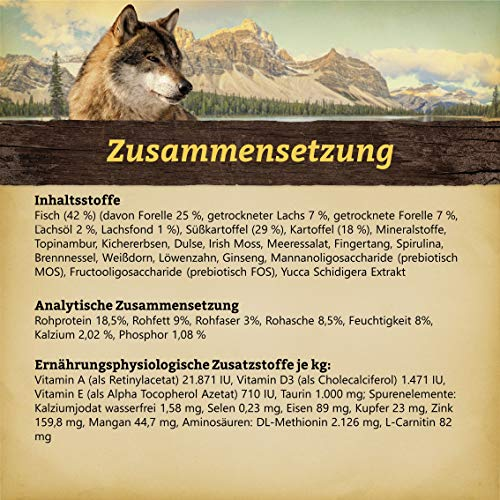 WOLFSBLUT Trockenfutter COLD RIVER Forelle + Süßkartoffel Adult für Hunde 15,0 kg - 2