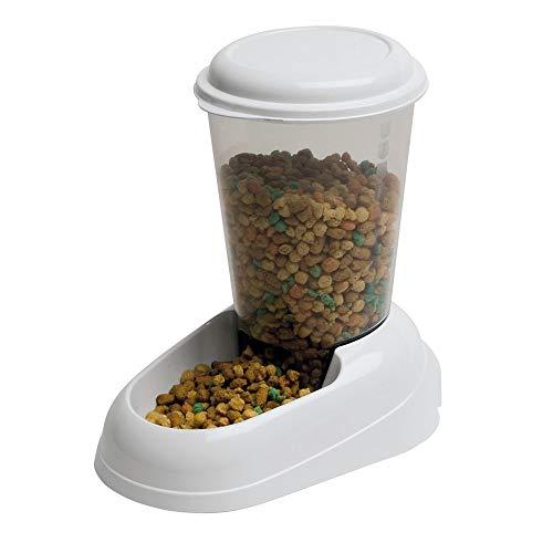 Ferplast 71970099W1 Futterspender ZENITH, für Katzen und Hunde, 3 Liter, weiss