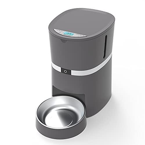 ANMER A25 Futterautomat, Automatischer Futterspender mit akustischer Benachrichtigung und Timer Funktion, 6 Mahlzeiten für Hunde ( Groß, Mittel und Klein ) und Katzen.