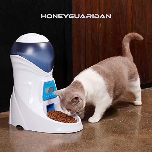 ANMER A25 Futterautomat, Automatischer Futterspender mit akustischer Benachrichtigung und Timer Funktion, 6 Mahlzeiten für Hunde ( Groß, Mittel und Klein ) und Katzen. - 7