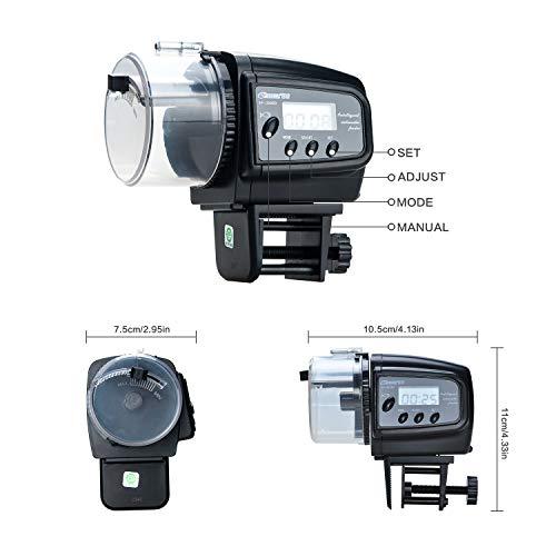 Lychee Fish Feeder Futterautomat AF-2009D – digital mit LCD-Anzeige - 3
