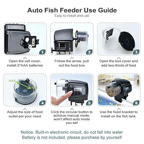 Lychee Fish Feeder Futterautomat AF-2009D – digital mit LCD-Anzeige - 5