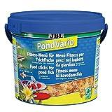 JBL 40296 Hauptfutter Mix für alle Teichfische, Futterflocken, Sticks, Krebstiere PondVario, 1er Pack (1 x 5.5 l)