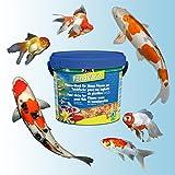 JBL 40296 Hauptfutter Mix für alle Teichfische, Futterflocken, Sticks, Krebstiere PondVario, 1er Pack (1 x 5.5 l) - 6