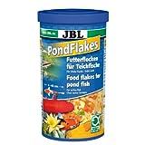 JBL 40195, Hauptfutter für alle Teichfische, Futterflocken PondFlakes, 1 l