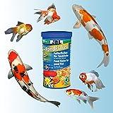 JBL 40195, Hauptfutter für alle Teichfische, Futterflocken PondFlakes, 1 l - 3