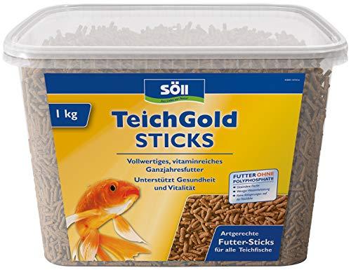 Söll 14643 TeichGold Futter-Sticks - Alleinfuttermittel für alle Teichfische - schwimmfähige Teichsticks - 7,5 l