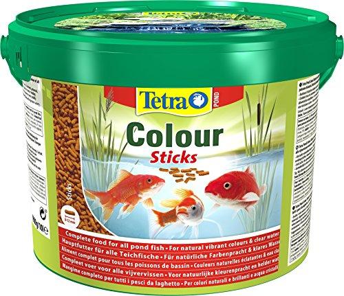 Tetra Pond Colour Sticks (Hauptfutter zur Entfaltung der natürlichen Farbenpracht aller Teichfische), 10 Liter Eimer