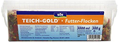 Söll 14700 Teich-Gold Futter-Flocken – Alleinfuttermittel für alle Teichfische – schwimmfähige Teichflocken – 3l - 2