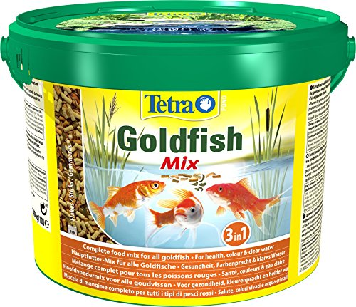 Tetra Pond Goldfish Mix Premium Hauptfutter (Futtermix aus besten Flocken), 10 Liter Eimer