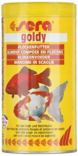 sera 00850 goldy 250 ml das Flockenfutter für kleinere Goldfische und andere Kaltwasserfische - 9