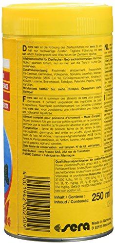 sera 00250 san  250 ml – das Farbfutter aus schwimmenden Flocken - 9