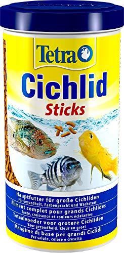 Tetra Cichlid Sticks (Hauptfutter für alle Cichliden und andere große Zierfische, schwimmfähige Futtersticks), 1 Liter Dose